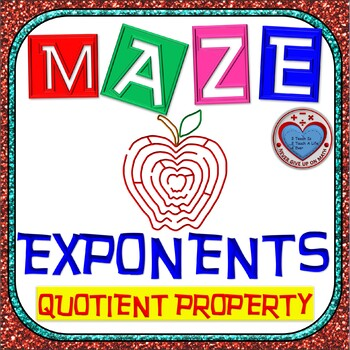 Maze - Exponents - Quotient Property