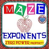 Maze - Exponents - Zero Exponent Property
