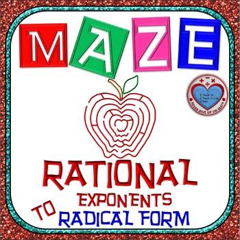 Maze - Expressing Rational Exponents in Radical Form