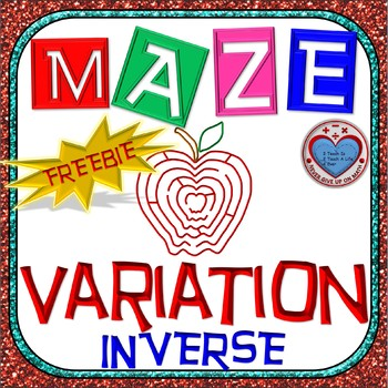 Maze - FREEBIE - Rational Functions: Inverse Variation - F