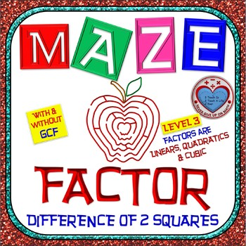 Maze - Factoring - Factor Difference of Two Squares With &
