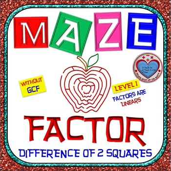 Maze - Factoring - Factor Difference of Two Squares WITHOUT GCF - Level 1