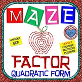 Maze - Find the Factor: Factor Quadratic Form (NO GCF) - Level 2