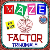 """Maze - Factoring - Factor Trinomials where """"a"""" is 1 (WITH GCF)"""