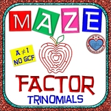 "Maze - Factor Trinomials where ""a"" is NOT 1 (WITHOUT GCF)"