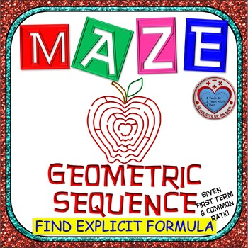 Maze - Find Explicit Formula of Geometric Sequence given a1 & r
