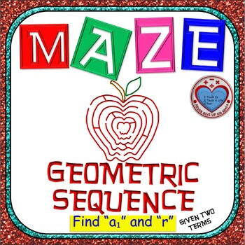 Maze - Find First Term & Common Ratio of Geometric Sequence given 2 terms