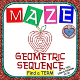 Maze - Find a term of a Geometric Sequence Given a1 and r