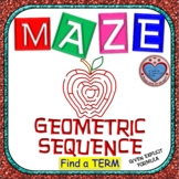 Maze - Find a term of Geometric Sequence given the Explicit Formula