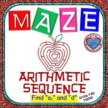 Maze - Find First Term & Common Difference of Arithmetic Sequence given 2 terms