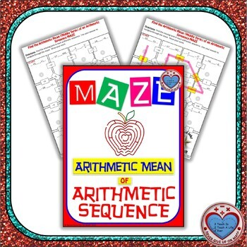 Maze - Find the Arithmetic Mean (middle term) of an Arithmetic Sequence