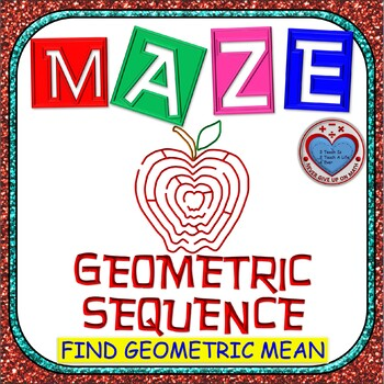 Maze - Find the Geometric Mean (middle term) of a Geometric Sequence