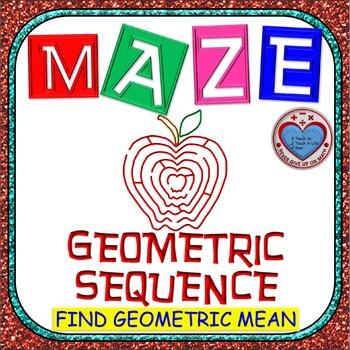 Maze - Find the Geometric Mean (middle term) of a Geometri