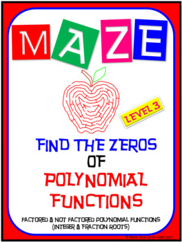 Maze - Find the Zeros of a Polynomial Functions (Level 3)