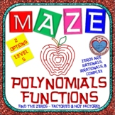 Maze - Find the Zeros of a Polynomial Functions (Level 5)