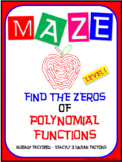 Maze - Find the Zeros of a Polynomial Functions (Level 1 - EASIEST)