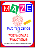 Maze - Find the Zeros of a Polynomial Functions (Level 2 - EASY)