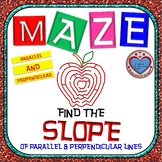 Maze - Find the SLOPE of parallel and perpendicular lines (2 Mazes)