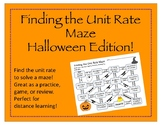 Maze: Finding the Unit Rate (Halloween Edition)