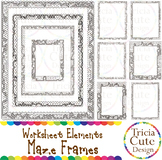 Maze Frames Borders Clip Art Set A