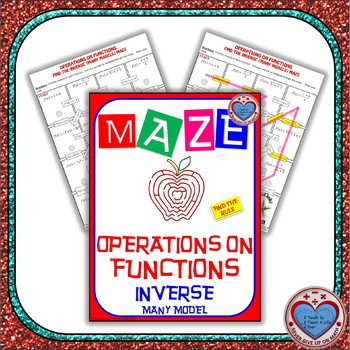 Maze - Functions - Inverse of Functions (Find the Rule) Level 2:- Many Functions