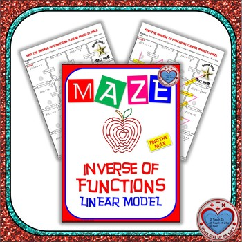 Maze - Functions - Inverse of Functions (Find the Rule) - Linear Model