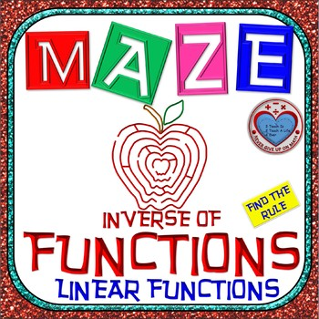 Maze - Functions - Inverse of Functions (Find the Rule) -