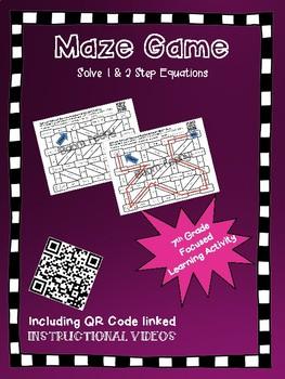 Maze Game 1 & 2 Step Equations
