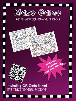 Maze Game Add and Subtract Rational Numbers