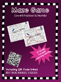 Maze Game Converting Fractions to Decimals