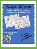 Maze Game- Dividing with Whole Numbers and Operations with