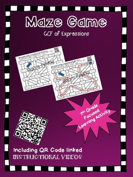 Maze Game GCF of Expressions