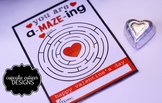 Maze Game  Valentine Card Favor Hand out Classroom Party F