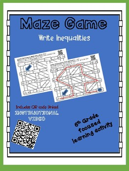 Maze Game- Write Inequalities