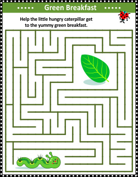 Maze Game with Caterpillar, Commercial Use Allowed