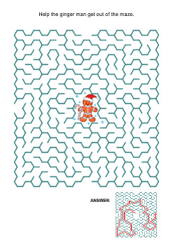 Maze Game with Ginger Man, Commercial Use Allowed