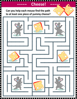 Maze Game with Mice and Cheese, Commercial Use Allowed