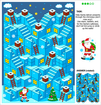 Maze Game with Santa Delivering Presents, Commercial Use Allowed