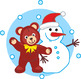 Maze Game with Snowman and Teddy Bear, Commercial Use Allowed