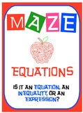 Maze - Is it an equation, expression, or an inequality?