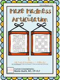 Maze Madness for Articulation - L (initial/medial/final/bl