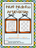 Maze Madness for Articulation - S (initial/medial/final/blends) - 24 mazes!