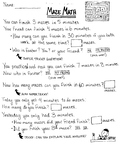 Maze Math Worksheet - Multiplication and Division