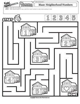 Maze: Neighborhood Numbers