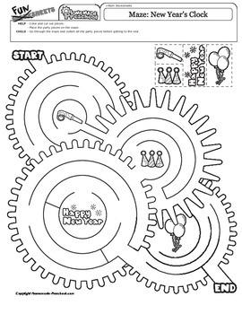 New Year's Clock Maze