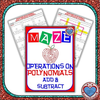 maze operations on polynomials adding subtracting polynomials - Adding And Subtracting Polynomials Worksheet