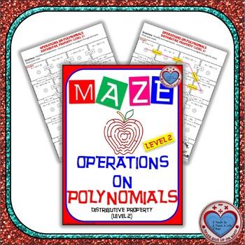 Maze - Operations on Polynomials - Distributive Property (Level 2)