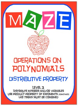 Maze - Operations on Polynomials - Distributive Property (Level 3)