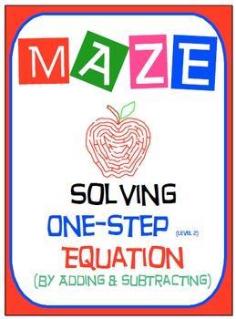 Maze - Equations - Solving One Step Equation - Linear Model (Level 2)