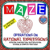 Maze - Operations on Rational Expressions ALL IN ONE